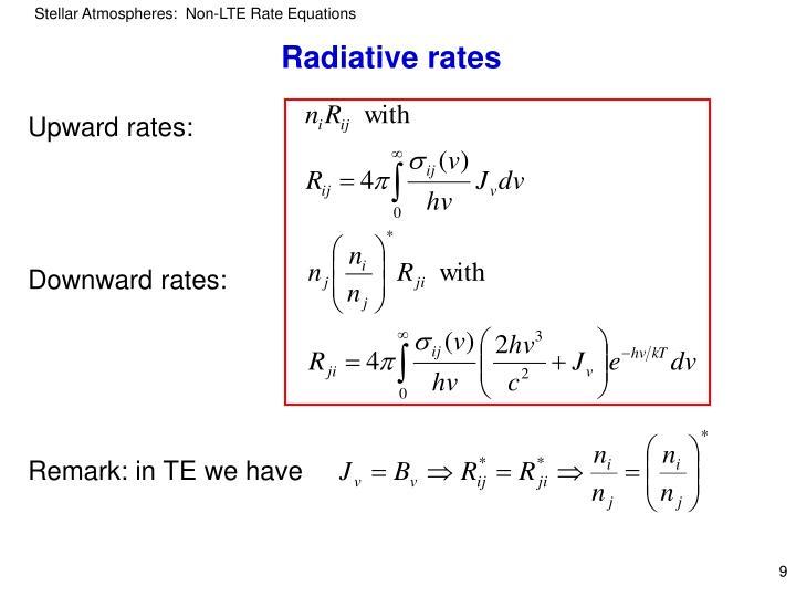 Radiative rates