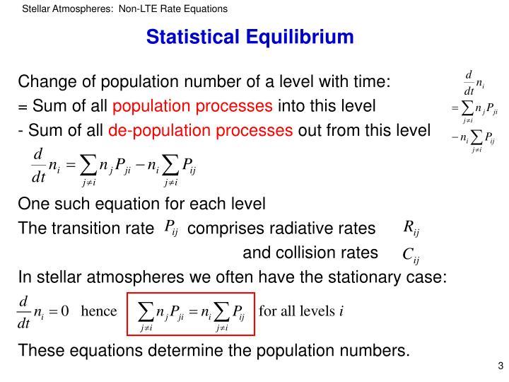 Statistical Equilibrium