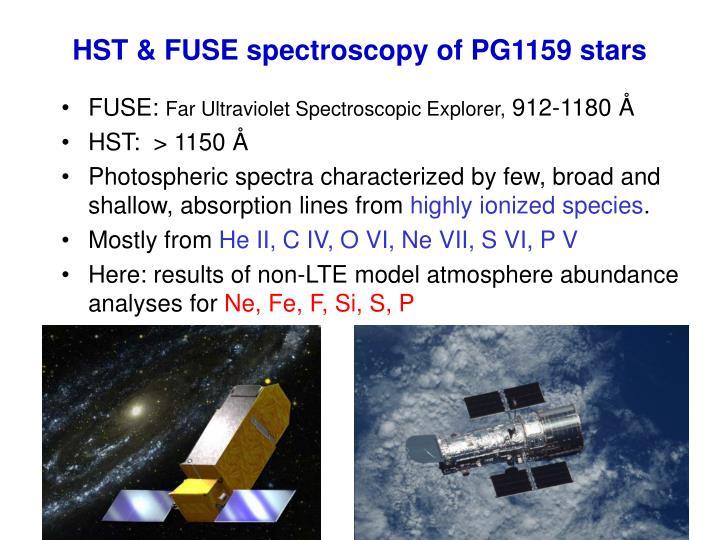 HST & FUSE spectroscopy of PG1159 stars