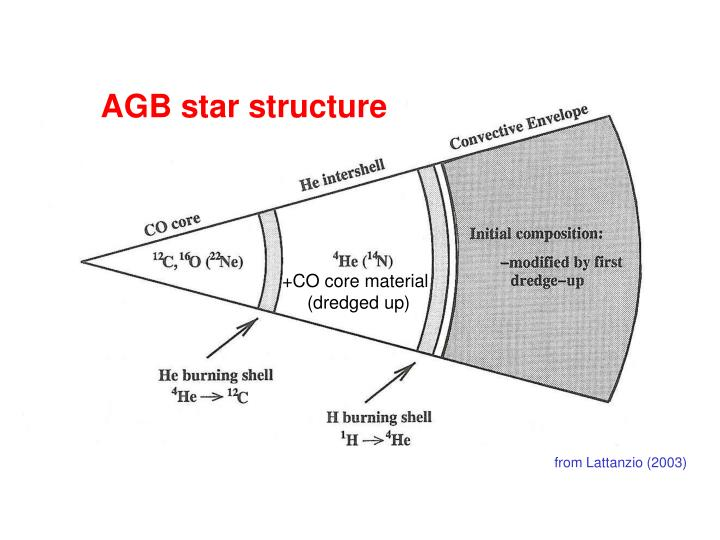 AGB star structure