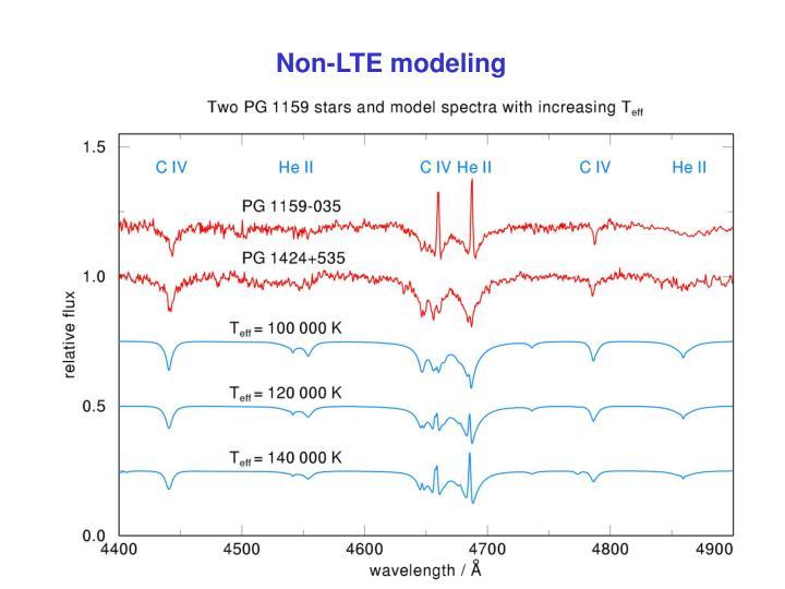Non-LTE modeling