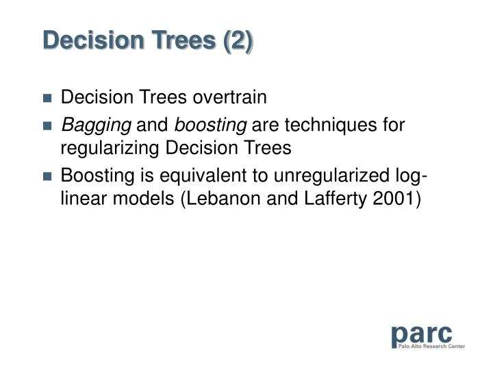 Decision Trees (2)
