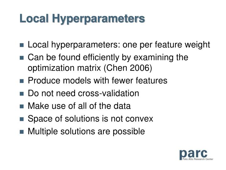 Local Hyperparameters