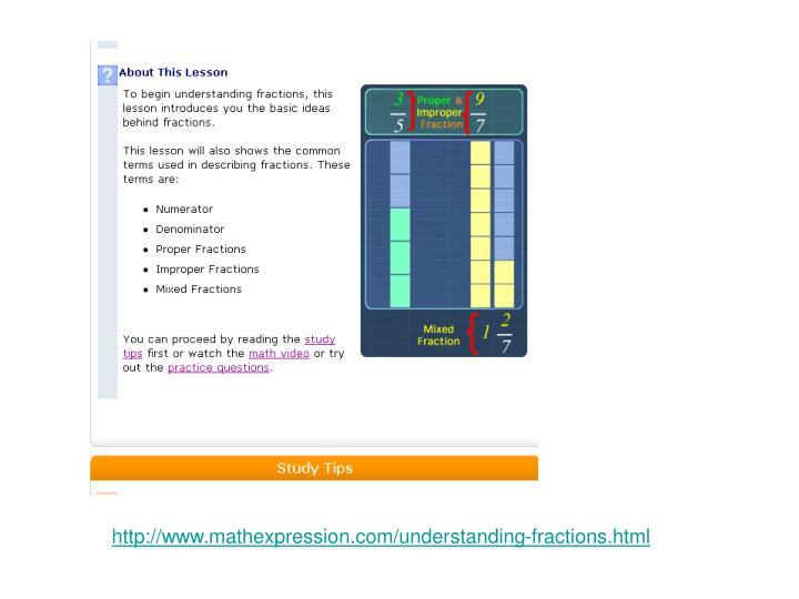 http://www.mathexpression.com/understanding-fractions.html