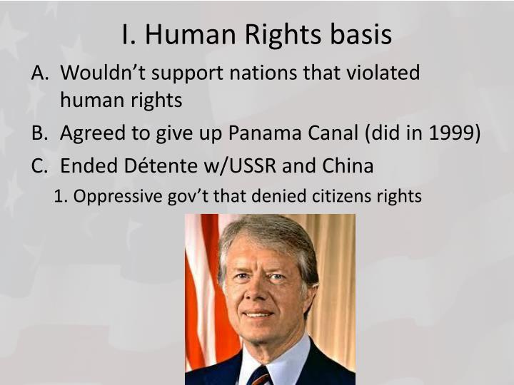I. Human Rights basis