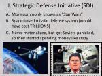 i strategic defense initiative sdi