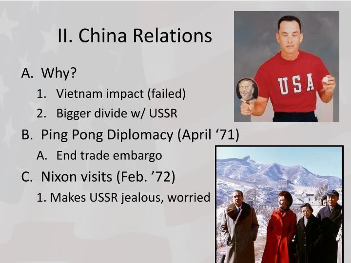 II. China Relations