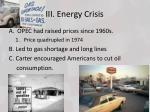 iii energy crisis