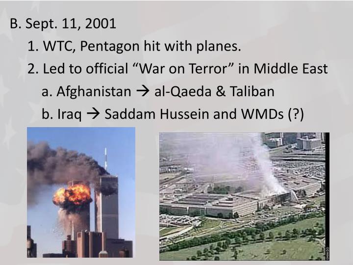 B. Sept. 11, 2001