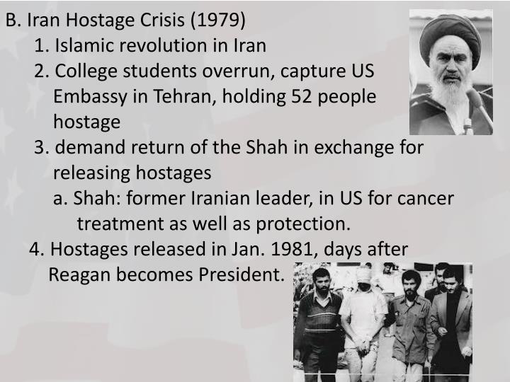 B. Iran Hostage Crisis (1979)