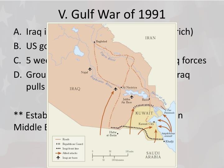 V. Gulf War of 1991
