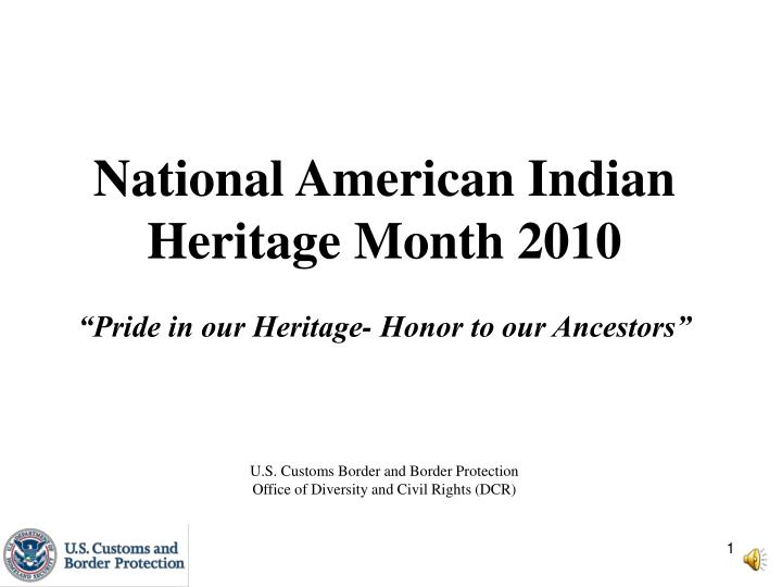 National American Indian Heritage Month 2010