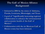 the gulf of mexico alliance background