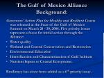the gulf of mexico alliance background1