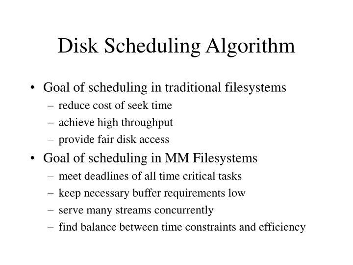 Disk Scheduling Algorithm