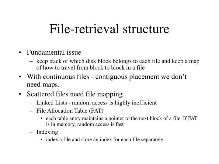 File-retrieval structure