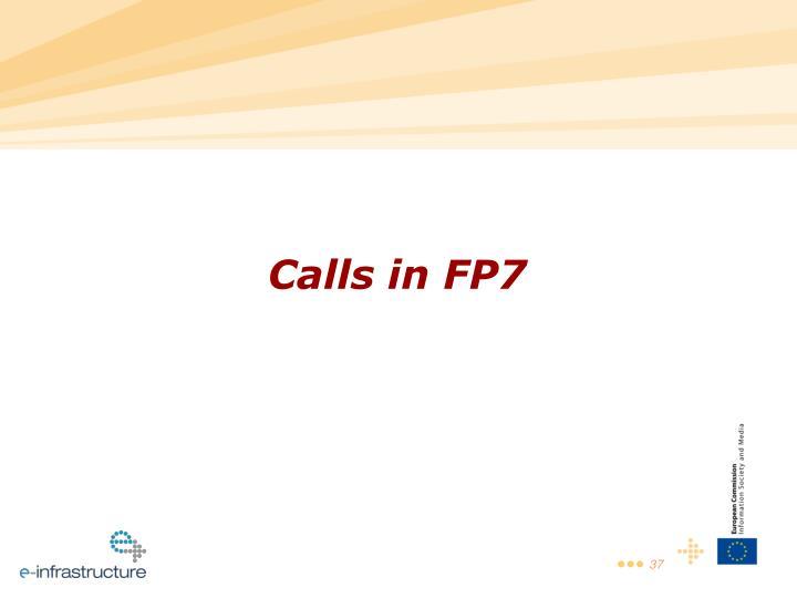 Calls in FP7