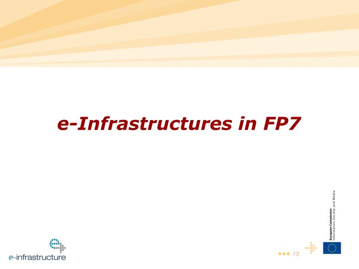 e-Infrastructures in FP7