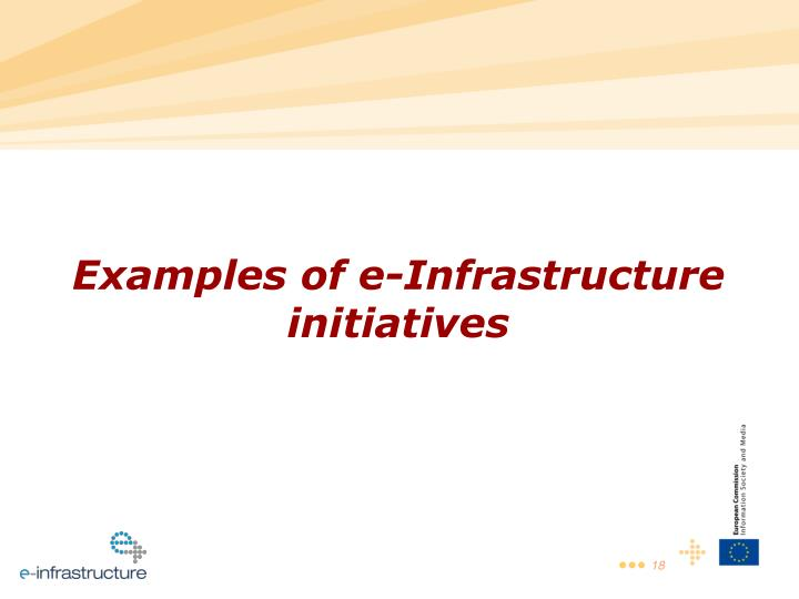 Examples of e-Infrastructure initiatives