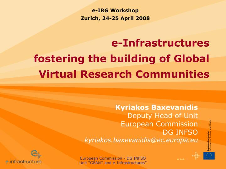 E-IRG Workshop