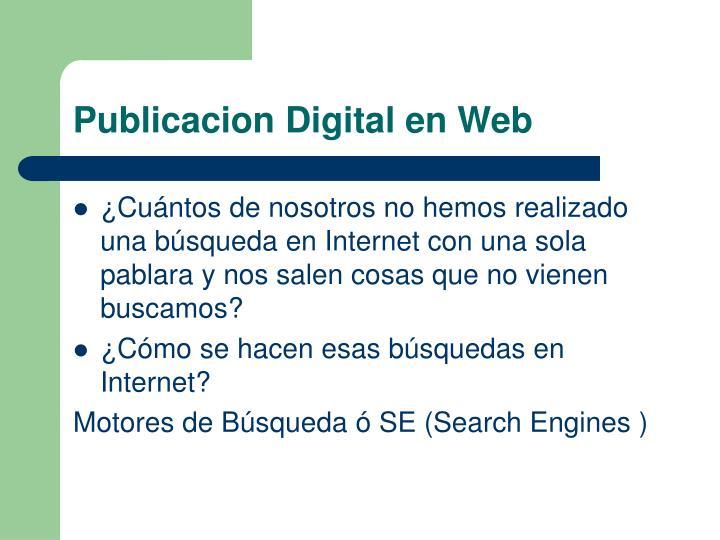 Publicacion Digital en Web