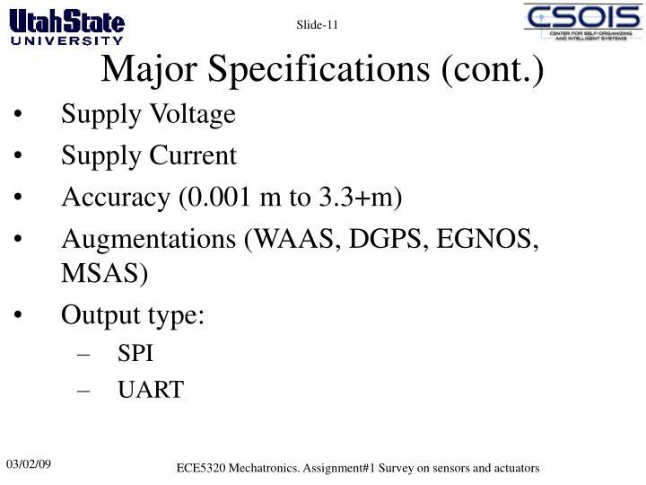 ECE5320 Mechatronics. Assignment#1 Survey on sensors and actuators