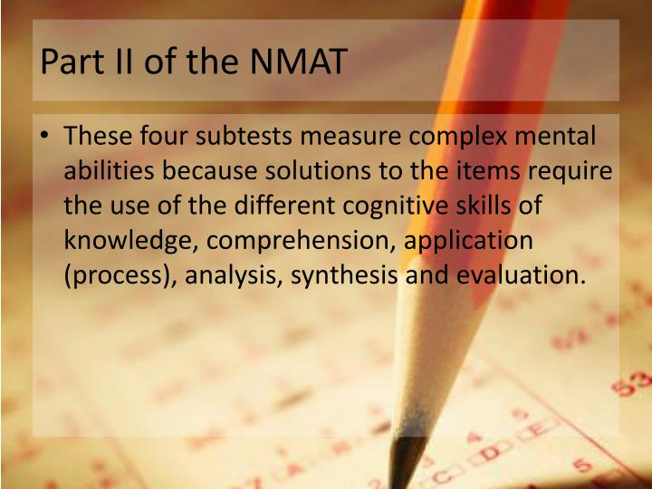 Part II of the NMAT