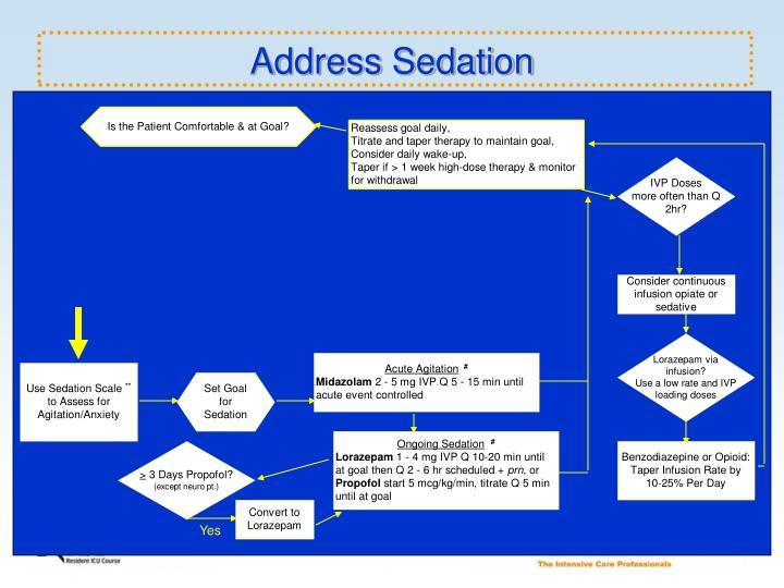Address Sedation