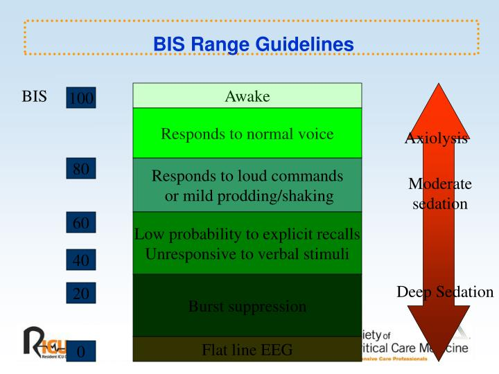 BIS Range Guidelines