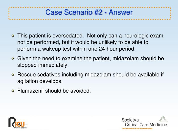 Case Scenario #2 - Answer