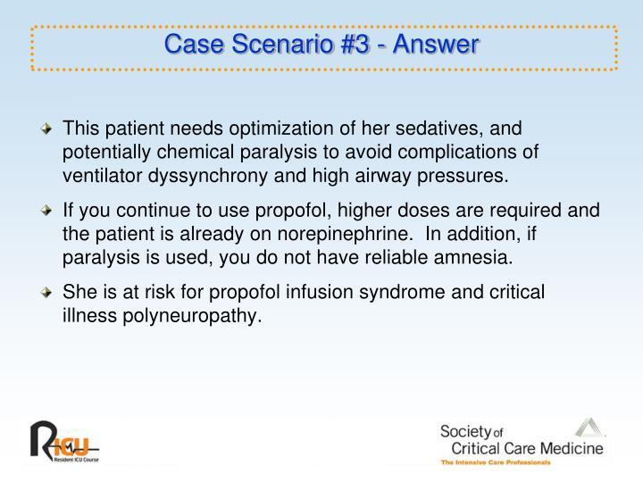 Case Scenario #3 - Answer