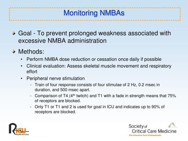 Monitoring NMBAs