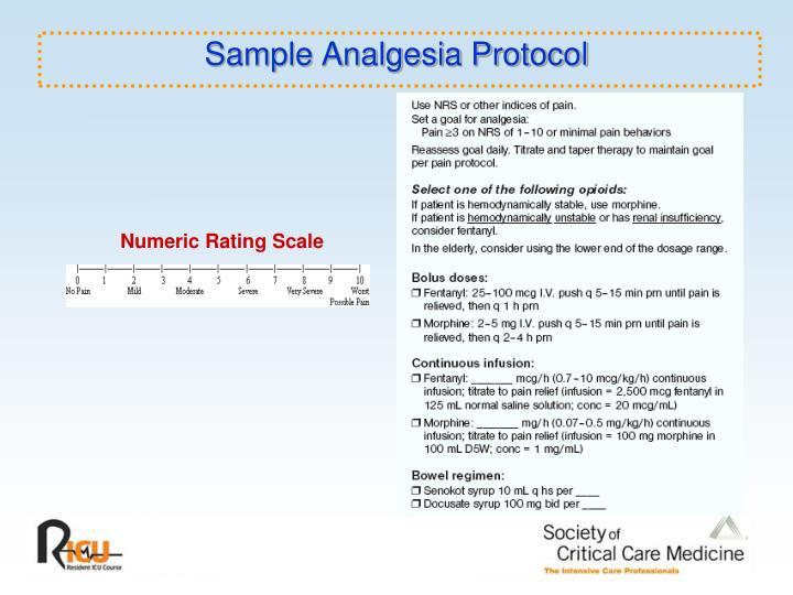 Sample Analgesia Protocol