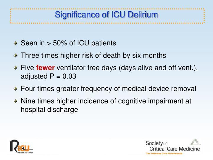 Significance of ICU Delirium