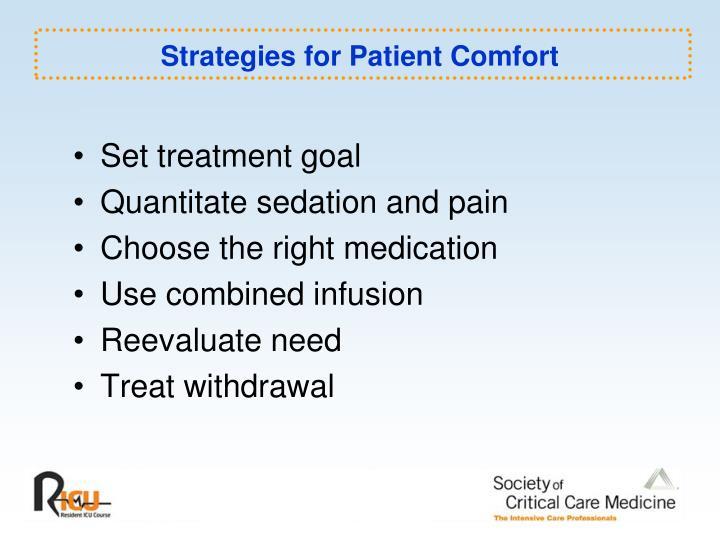 Strategies for Patient Comfort