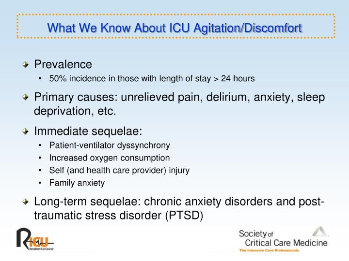 What we know about icu agitation discomfort