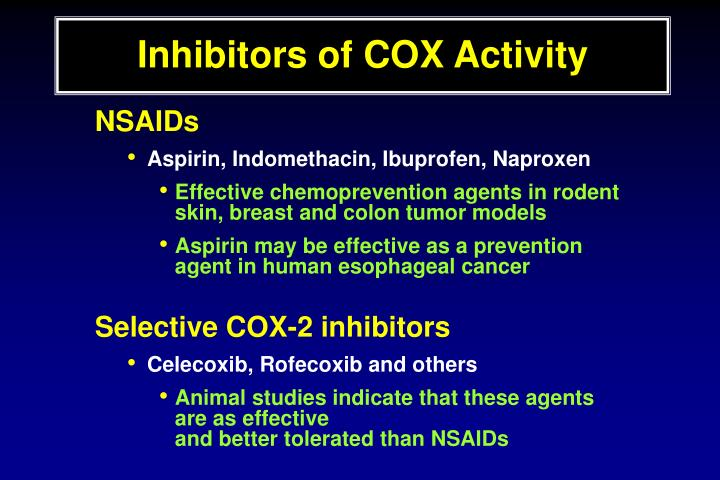Inhibitors of COX Activity