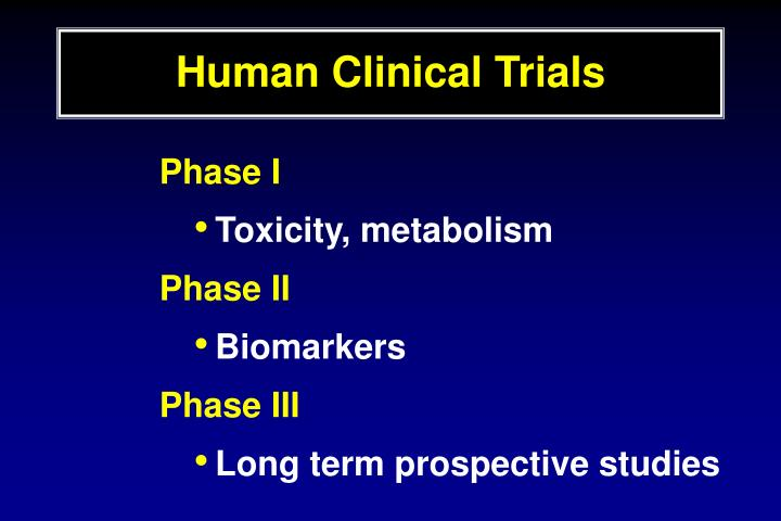 Human Clinical Trials