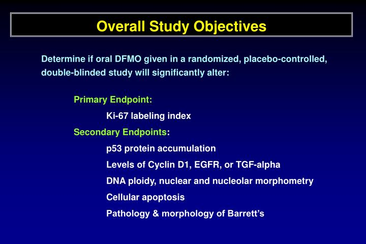 Overall Study Objectives