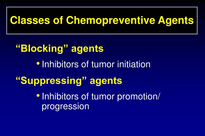 Classes of Chemopreventive Agents