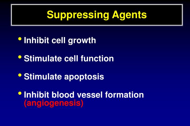 Suppressing Agents