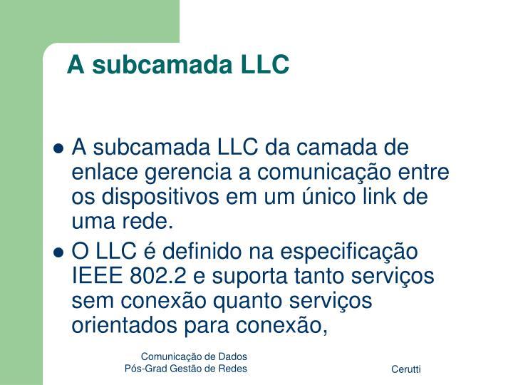 A subcamada LLC