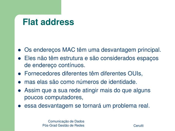 Flat address