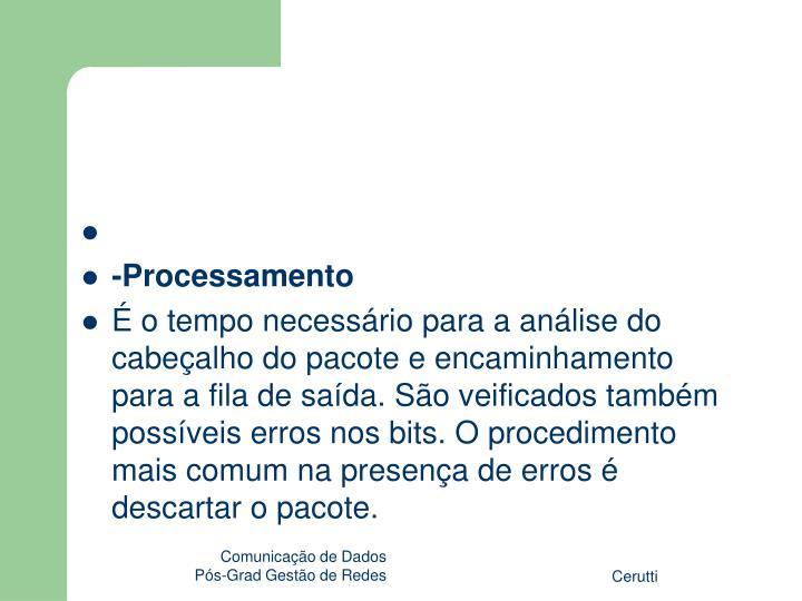 -Processamento