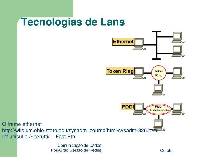 Tecnologias de Lans