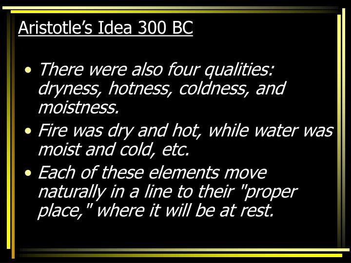 Aristotle's Idea 300 BC