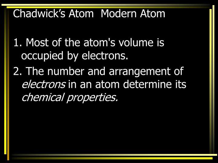Chadwick's Atom  Modern Atom