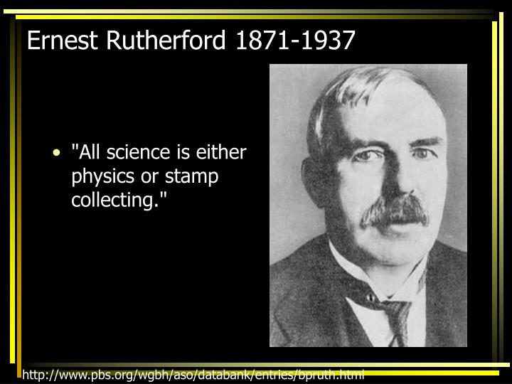 Ernest Rutherford 1871-1937