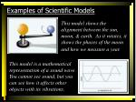 examples of scientific models