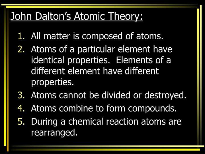John Dalton's Atomic Theory: